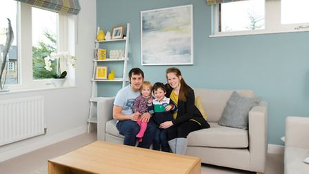Lorna and Dave Rayner moved into the concept home with their two children, Harry and Ebony, in Janua