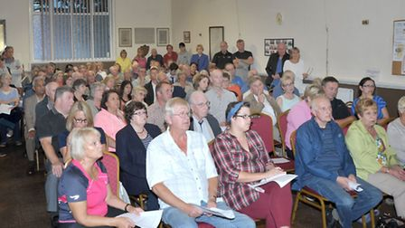 The last public meeting about the anaerobic digestion for Fengrain, was packed