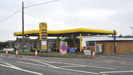 The Jet service station, in Witcham Toll.