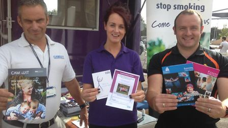 Kick the habit with Camquit - left to right: Steve Tibbs from Cambridgeshire County Council, Jessica