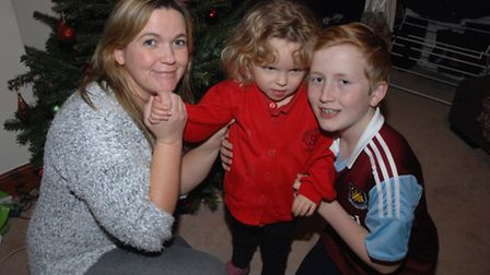 Debbie Bowyer, with her daughter Olivia and son Jack Thwaites.