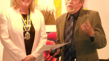 Debbie Bull, past president of Ely Hereward Rotary Club and Ted Coney, ADeC trustee, at a previous e