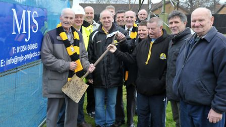 Turf cutting for new club house at March town football club. Picture: Steve Williams.