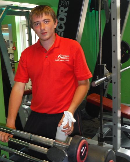 Dale Brighty working at Hudson Leisure Centre.