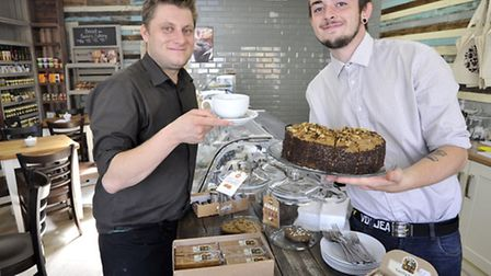 Deli at 65, in Sutton, (l-r) manager Ollie Ward, and colleague Lewis Walmsley.