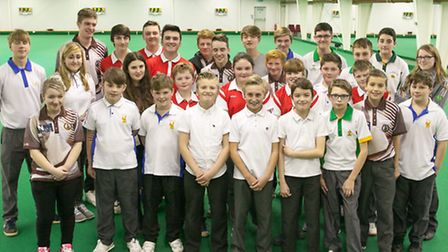 Participants in the bowls competition.