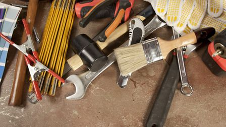 Tools were stolen from a van parked under a car port.