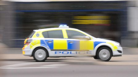 Police stopped the man in Hitchin.
