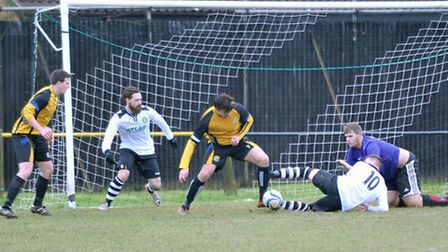 March Town United Reserves v Over Sports Reserves. Picture: Steve Williams.