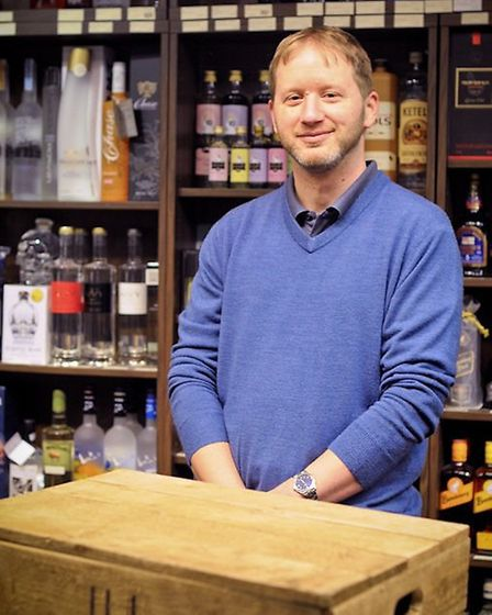 James Clark - owner and founder of the Ely Gin Company