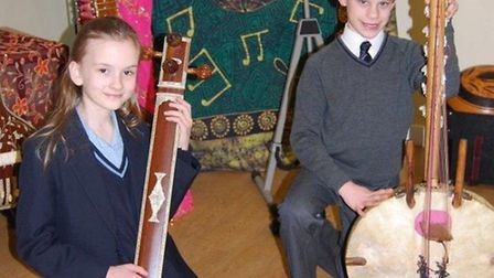 Wisbech Grammar School's Magdalene House try out instruments