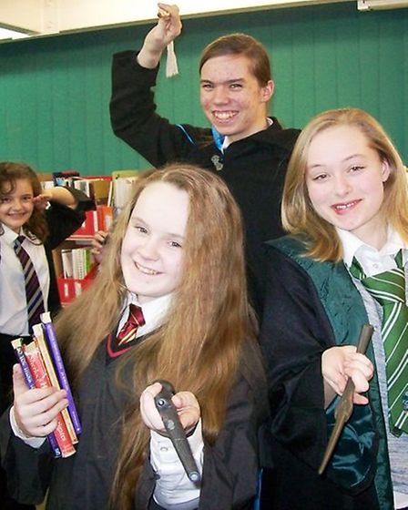 Students at Witchford Village College enjoy Harry Potter book night.