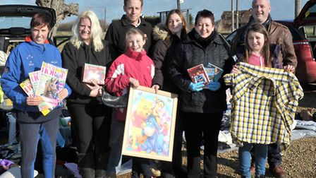 Three Horseshoes Turves, Car boot for village defibrillator. Picture:Steve Williams.