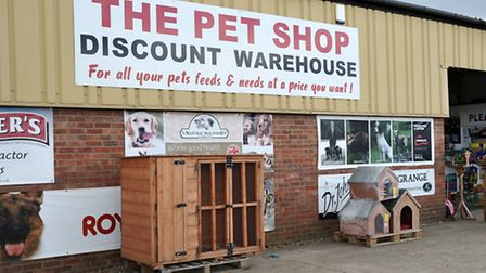 The Pet Shop Discount Warehouse, in March.