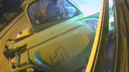 Video stills: Police released this footage from one of the ATM raids