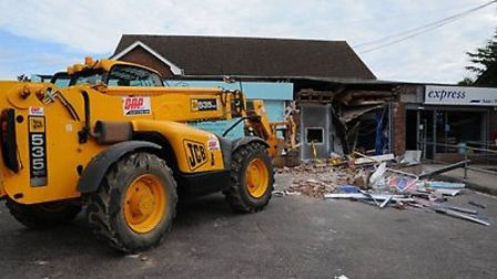 The ram raid at the Tesco Express in Taverham. Picture: Eastern Region Special Operations Unit.