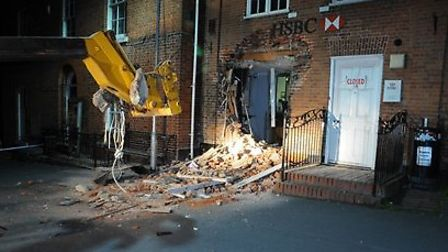 The ram raid at the HSBC in Reepham. Picture: Eastern Region Special Operations Unit.