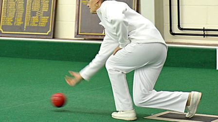 North Cambs Bowls final, Christine Wadlow.Picture: Steve Williams.