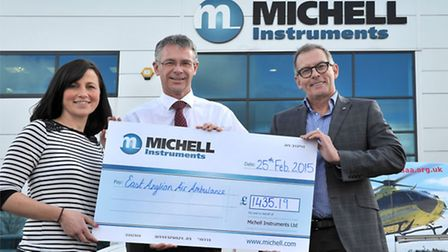 Michell Instruments chose East Anglian Air Ambulance as its 2014 charity and over the course of the
