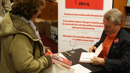 Waterstone's in Peterborough hosted the official launch party for Whittlesey-based author alex:g's n
