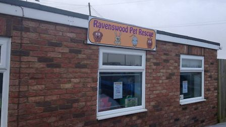 Outside the new Ravenswood Pet Rescue shop at Bambers Garden Centre, Walsoken, near Wisbech