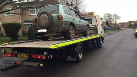 Vehicle confiscated after hare coursing in Thorney