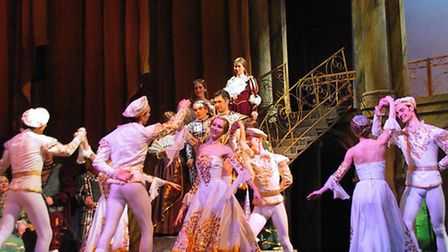 A scene from Rigoletto, which is performed at The Cresset on February 21.
