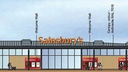 Proposed store for Sainsbury's in Whittlesey