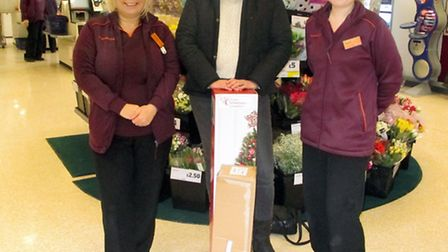 Sainsbury's March, Left: Lisa Moore Volunteer, myself Michelle Connolly and Lauren Crofts.