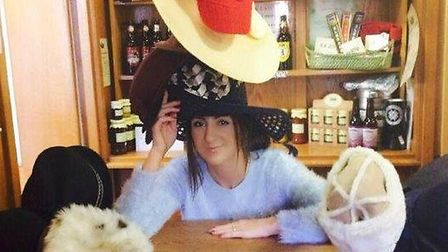 Sadie Johns wears hats for charity