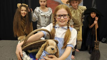 St Andrews Primary School, Soham, production of The Wizard of Oz, with (front) Amy, (back l-r) Ami,