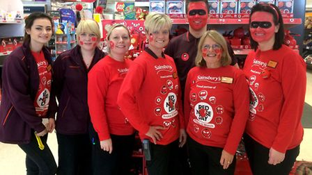 Red Nose Day at March Sainsbury's
