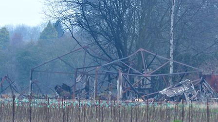 Store shed fire, Nth Brink Wisbech.Picture:Steve Williams.