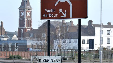 Tourist sign Wisbech. Picture: Steve Williams.