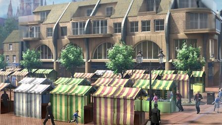 A new £4million proposal to enhance Ely's city centre. Ely practice Gary Johns Architects and local
