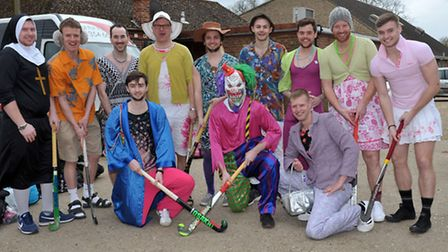 March 1st Hockey team off to Dereham after winning League.Picture: Steve Williams.
