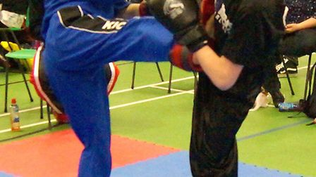 Peterborough BCKA fighters were in action art the Norfolk Open
