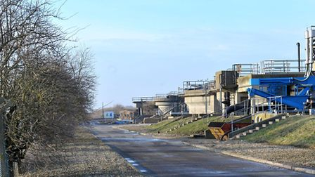 Sewerage treatment works, March. Picture: Steve Williams.
