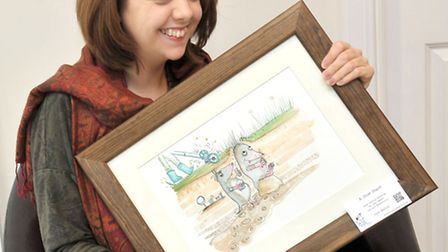 Julie Parker at her art exhibition at The Octavia View, Wisbech. Picture: Steve Williams.
