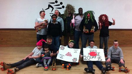 Shelldene House residents and staff are pictured during their sponsored skate at Skaters.