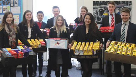 King's Ely students donated more than 350 Easter eggs to the foodbank.