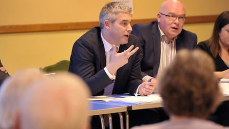 Local MP Steve Barclay attended a meeting organised by the Littleport Parish Council