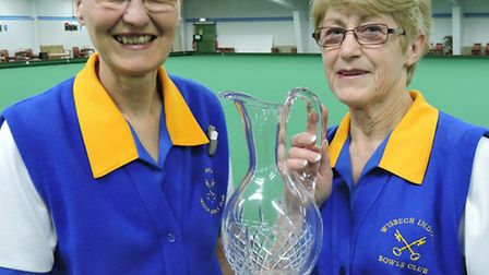 Wisbech pair Carole Quinney and Pauline Ayres.