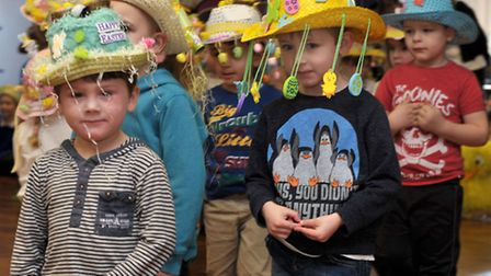 Bonnets and bunny egg-stravaganza parade at Park Lane Primary School, Whittlesey.Picture: Steve Will