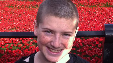 Darcie Tegerdine had her head shaved to raised funds for charity.