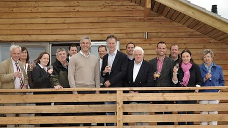 2013: Fields End Water Doddington, new deluxe self catering lodges. official opening by Steve Barcla