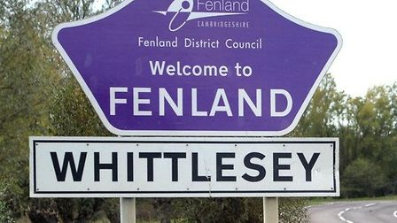 Whittlesey town sign
