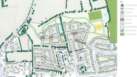 Showfields site plan for new proposal of 220 homes