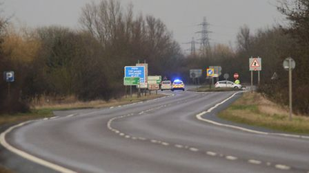 The A17 was closed in both directions, after a RTC at the Walpole Cross Keys junction. Picture: Ian