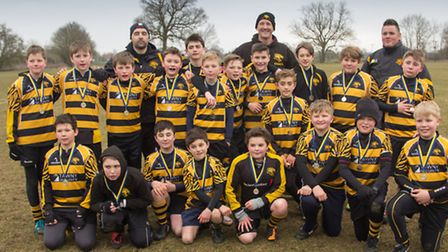 Ely Tigers under 12s finished runners up in the Cambs County Cup.Picture: MARK JOHNSON